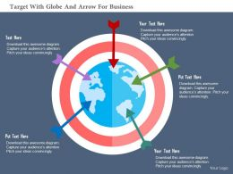 Target With Globe And Arrow For Business Flat Powerpoint Design