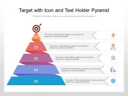 Target With Icon And Text Holder Pyramid