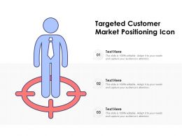 Targeted Customer Market Positioning Icon