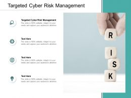Targeted Cyber Risk Management Ppt Powerpoint Presentation Summary Files Cpb