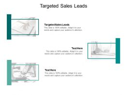 Targeted Sales Leads Ppt Powerpoint Presentation Infographic Template Guide Cpb