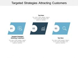 Targeted Strategies Attracting Customers Ppt Powerpoint Presentation Infographic Cpb
