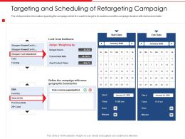 Targeting And Scheduling Of Retargeting Campaign Zip Code Ppt Icons