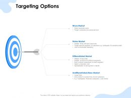 Targeting Options Micro Market Ppt Powerpoint Presentation Examples