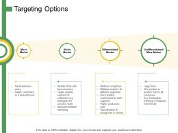 Targeting Options Ppt Powerpoint Presentation Summary Graphics Example