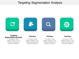Targeting Segmentation Analysis Ppt Powerpoint Presentation Inspiration Cpb