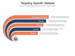 Targeting Specific Markets Ppt Powerpoint Presentation Professional Background Designs Cpb