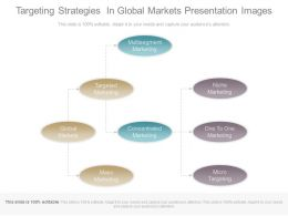 Targeting Strategies In Global Markets Presentation Images