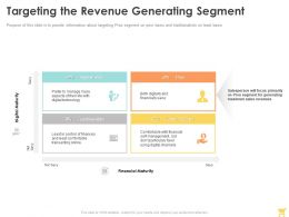 Targeting The Revenue Generating Segment Ppt Powerpoint Presentation Summary Example