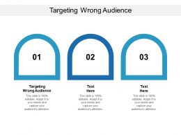 Targeting Wrong Audience Ppt Powerpoint Presentation Outline Slides Cpb