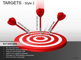 Targets 2 Powerpoint Presentation Slides DB
