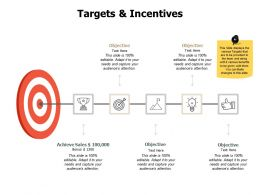Targets And Incentives Objective J225 Ppt Powerpoint Presentation File Skills