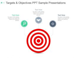 Targets And Objectives Ppt Sample Presentations