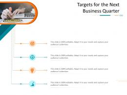 Targets For The Next Business Quarter Corporate Tactical Action Plan Template Company Ppt Introduction