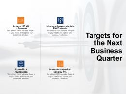 Targets For The Next Business Quarter Increase Ppt Powerpoint Presentation Portfolio
