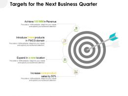 Targets For The Next Business Quarter Ppt Powerpoint Layout