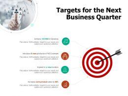 Targets For The Next Business Quarter Revenue Ppt Powerpoint Presentation Portfolio Aids