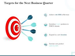 Targets For The Next Business Quarter Revenue Ppt Powerpoint Visual Aids Styles