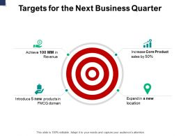 Targets For The Next Business Quarter Success A777 Ppt Powerpoint Presentation Slides Designs