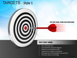 Targets Style 1 Powerpoint Presentation Slides