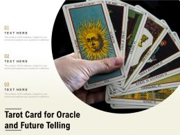 Tarot Card For Oracle And Future Telling