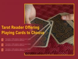 Tarot Reader Offering Playing Cards To Choose