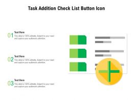 Task Addition Check List Button Icon