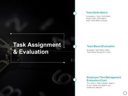 Task Assignment And Evaluation Ppt Powerpoint Presentation Layouts Introduction