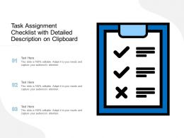 Task Assignment Checklist With Detailed Description On Clipboard