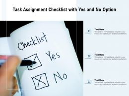 Task Assignment Checklist With Yes And No Option