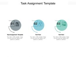 Task Assignment Template Ppt Powerpoint Presentation Slides Aids Cpb