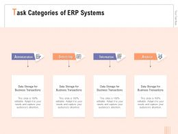 Task Categories Of ERP Systems Storage Ppt Powerpoint Presentation Icon Deck