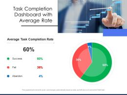 Task Completion Dashboard With Average Rate