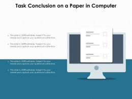 Task Conclusion On A Paper In Computer