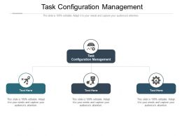 Task Configuration Management Ppt Powerpoint Presentation Professional Model Cpb