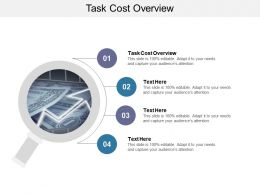 Task Cost Overview Ppt Powerpoint Presentation Slides Slideshow Cpb