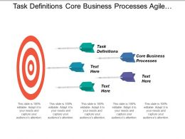 Task Definitions Core Business Processes Agile Team Management
