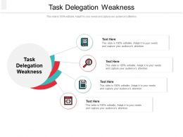 Task Delegation Weakness Ppt Powerpoint Presentation Show Layouts Cpb