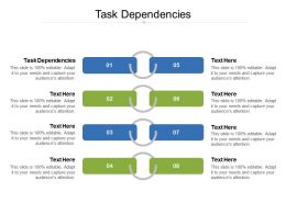 Task Dependencies Ppt Powerpoint Presentation Portfolio Designs Download Cpb