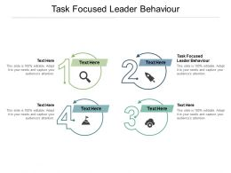 Task Focused Leader Behaviour Ppt Powerpoint Presentation Styles Examples Cpb