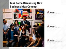 Task Force Discussing New Business Idea Concept