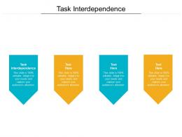Task Interdependence Ppt Powerpoint Presentation Outline Ideas Cpb