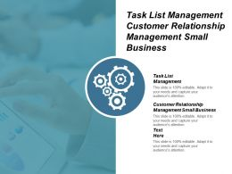 Task List Management Customer Relationship Management Small Business Cpb