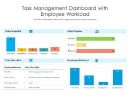 Task Management Dashboard With Employee Workload