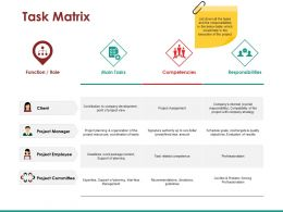 Task Matrix Powerpoint Slide Template