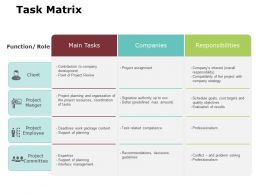 Task Matrix Ppt Powerpoint Presentation Gallery Structure