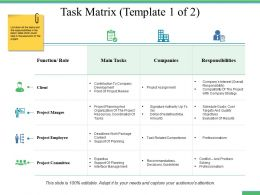 Task Matrix Ppt Professional Designs Download