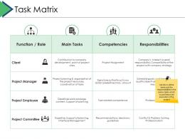 Task Matrix Project Brief Ppt Powerpoint Presentation Pictures Graphics Example