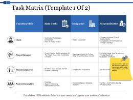 Task Matrix Responsibilities Ppt Powerpoint Presentation Summary Gallery