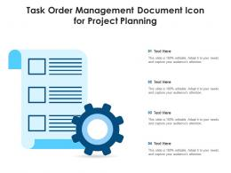 task order management document icon for project planning